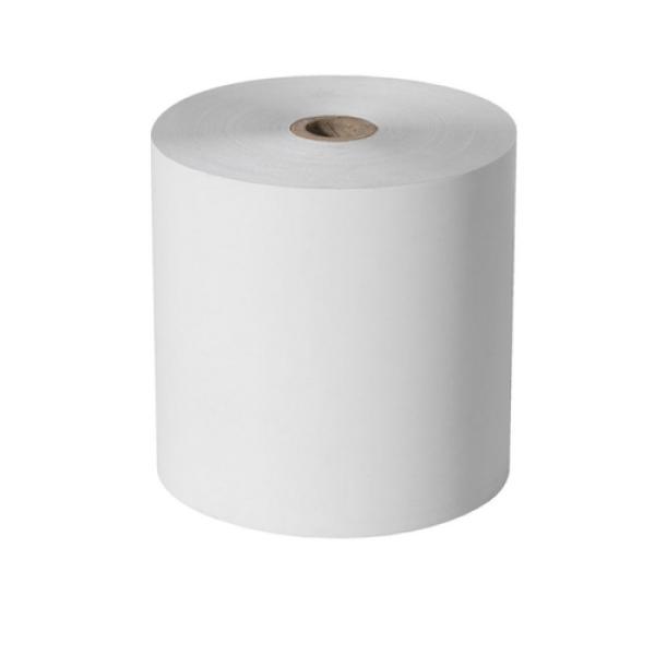 toalla de manos en rollo blanca