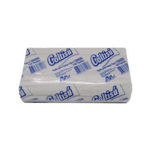 toalla de manos en z blanca