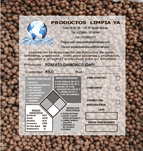 fertilizante dap por kilo